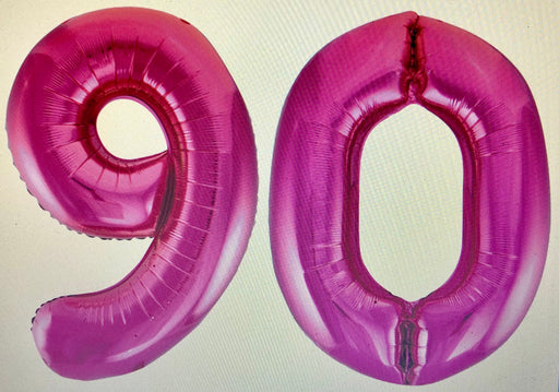 Age 90 Number Foil Balloons - The Ultimate Balloon & Party Shop