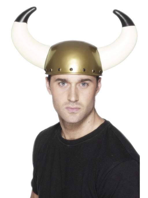 Gold Viking Hat W/Horns