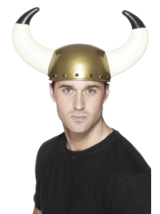 Gold Viking Hat W/Horns - The Ultimate Party Shop