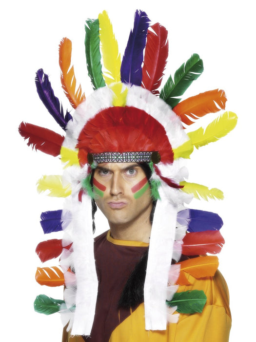 Indian Chief Feather Headdress - The Ultimate Party Shop