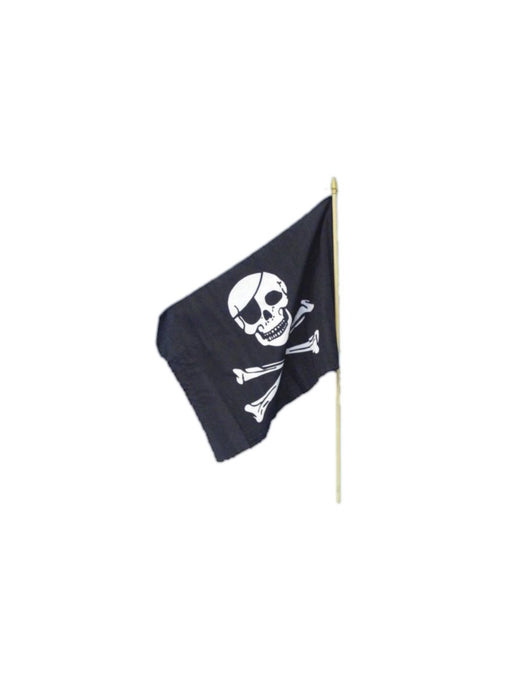 Pirate Skull & Crossbones Waving Flag - The Ultimate Party Shop