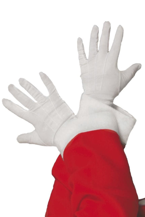 White Santa Gloves - The Ultimate Party Shop