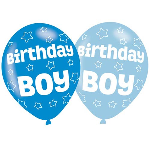 Birthday Boy Balloons 6 Pack - The Ultimate Party Shop