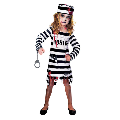 Zombie Convict Girl Costume - The Ultimate Balloon & Party Shop