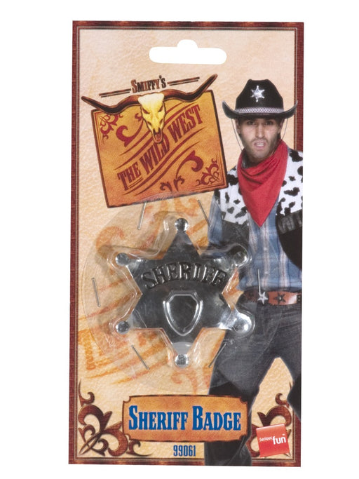 Cowboy Metal Sheriff Badge