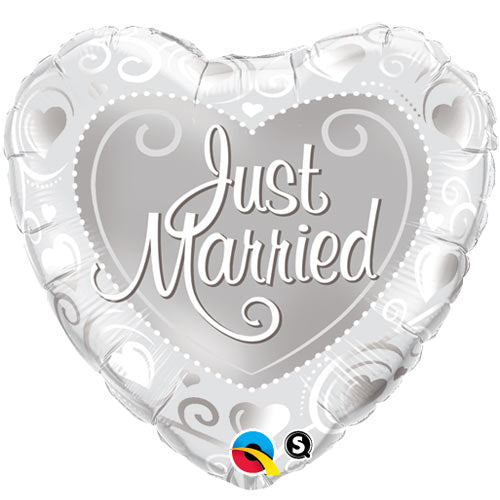 "18"" Foil Just Married Balloon"