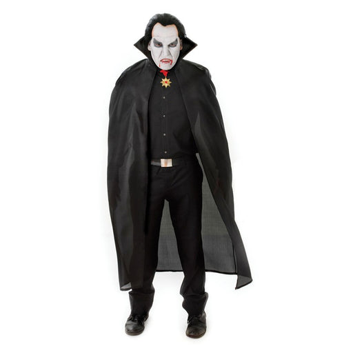 Long Adult Vampire Cape - Black - The Ultimate Party Shop