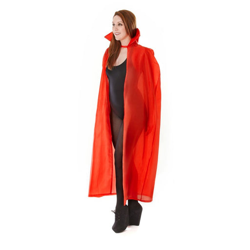 Long Adult Vampire Cape - Red - The Ultimate Party Shop