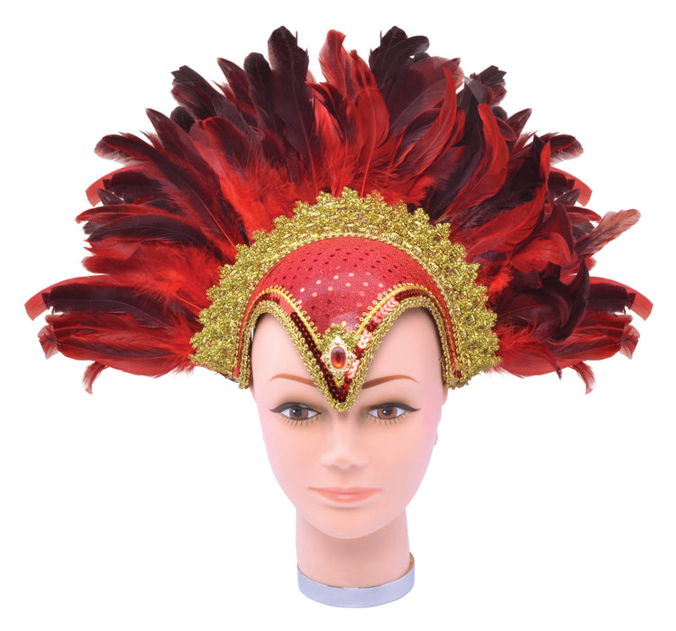 Carnival Feather Headdress - Red