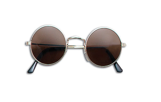 60's Lennon Sunglasses - Brown - The Ultimate Party Shop