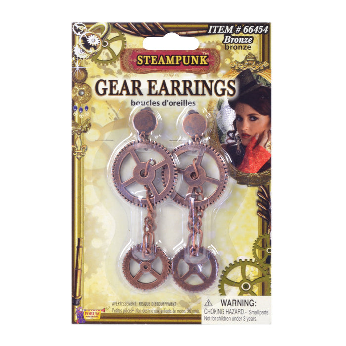 Steampunk Gear Earrings - The Ultimate Party Shop