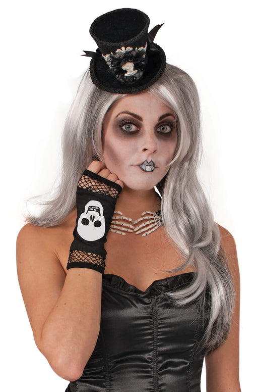 Skull Fingerless Gloves - The Ultimate Party Shop