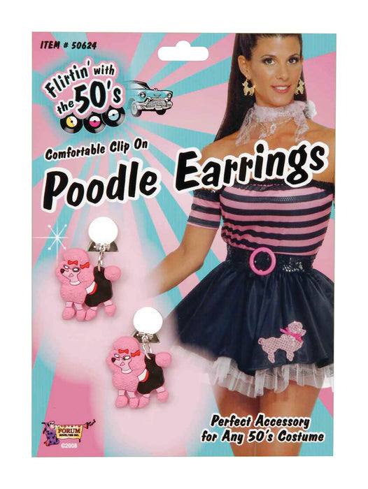 1950's Poodle Shape Earrings - The Ultimate Party Shop