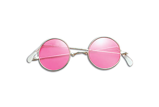 60's Lennon Sunglasses - Pink - The Ultimate Party Shop
