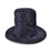 Child's Black Plush Top Hat