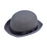Grey Fabric Bowler Hat