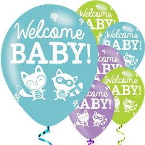 Baby Shower Printed Balloons 6 Pack - The Ultimate Party Shop