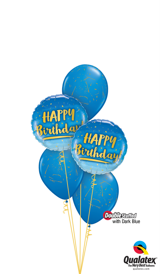 Happy Birthday Balloon Display - Blue - The Ultimate Party Shop