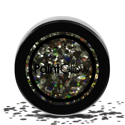 Cosmetic Chunky Glitter Pot - Black Enchantress