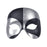 Black/Silver Voodoo Eyemask - The Ultimate Balloon & Party Shop