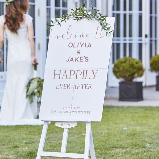 Wedding Welcome Sign - The Ultimate Balloon & Party Shop