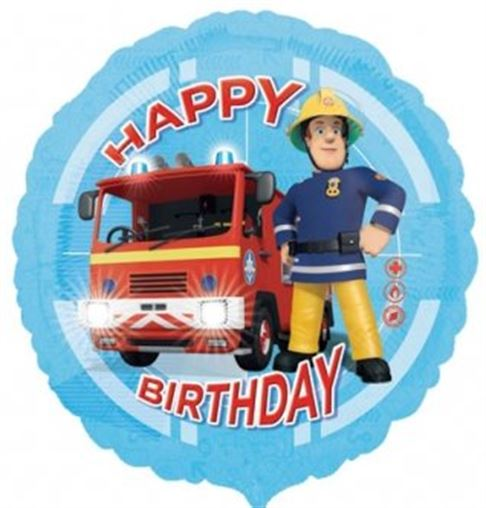 "18"" Foil Fireman Sam Printed Balloon - The Ultimate Party Shop"