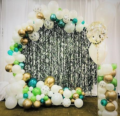 Organic Balloon Full Circle Backdrop - Personalised - The Ultimate Party Shop