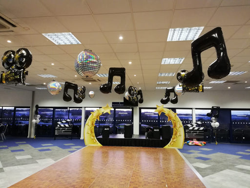 Hollywood & Musical Dance Floor Ceiling Decor - The Ultimate Balloon & Party Shop