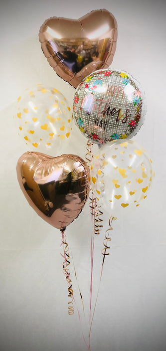 Mothers Day Balloon Display - Mixed Rose Gold - The Ultimate Balloon & Party Shop