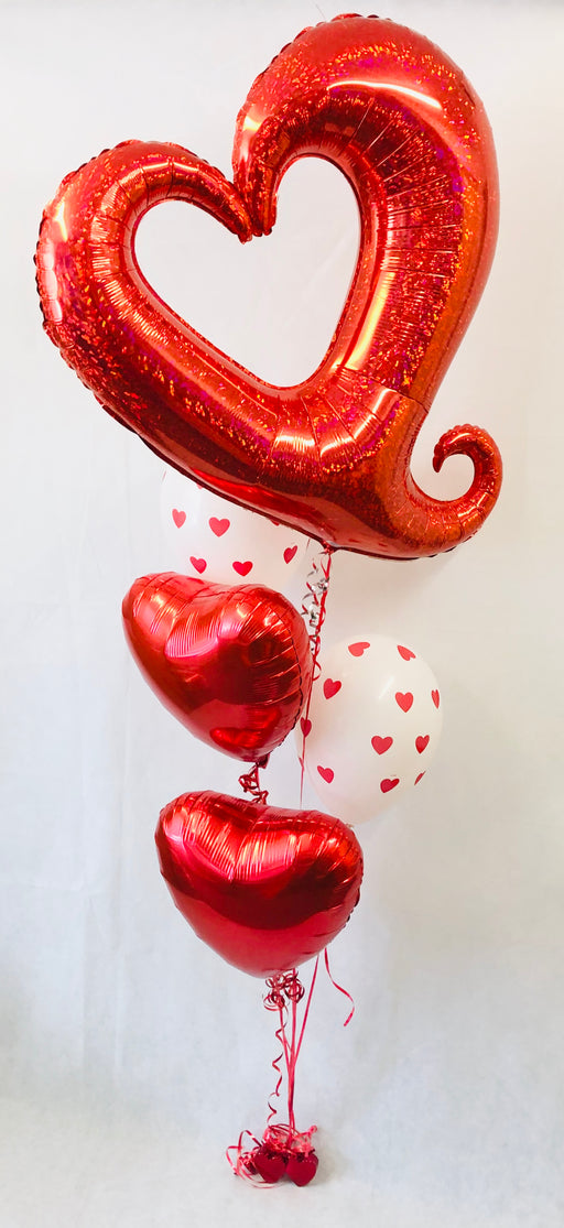 Valentine's Large Dazzle Heart Balloon Display - The Ultimate Party Shop