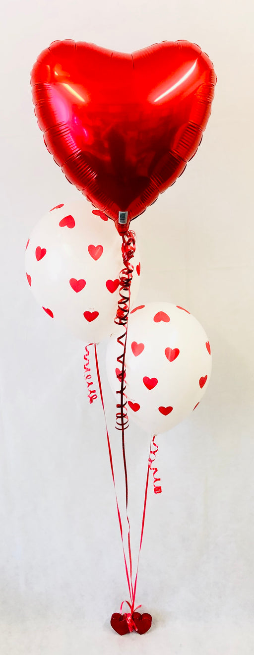 Valentine's 3 Balloon Heart Display - The Ultimate Party Shop
