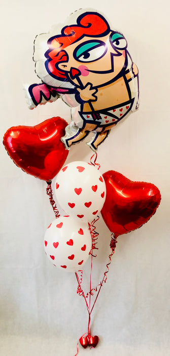 Valentine's Cupid Mixed Balloon Display - The Ultimate Balloon & Party Shop