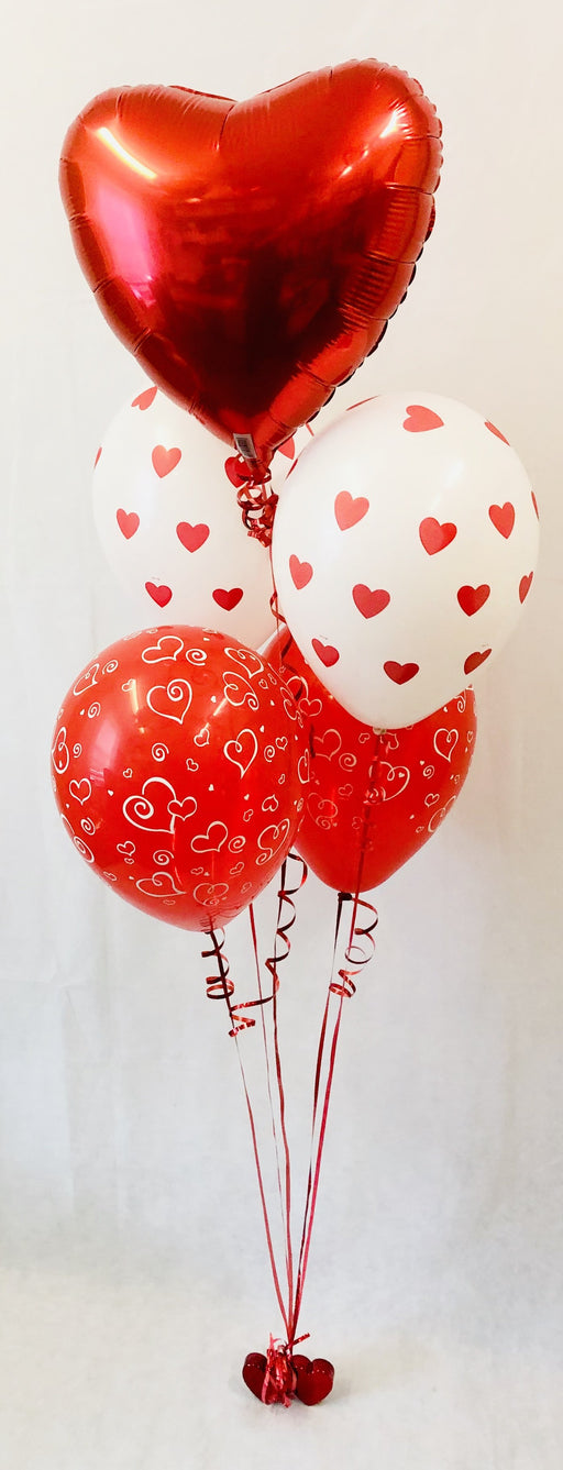 Valentine's Classic Heart Balloon Display - The Ultimate Party Shop