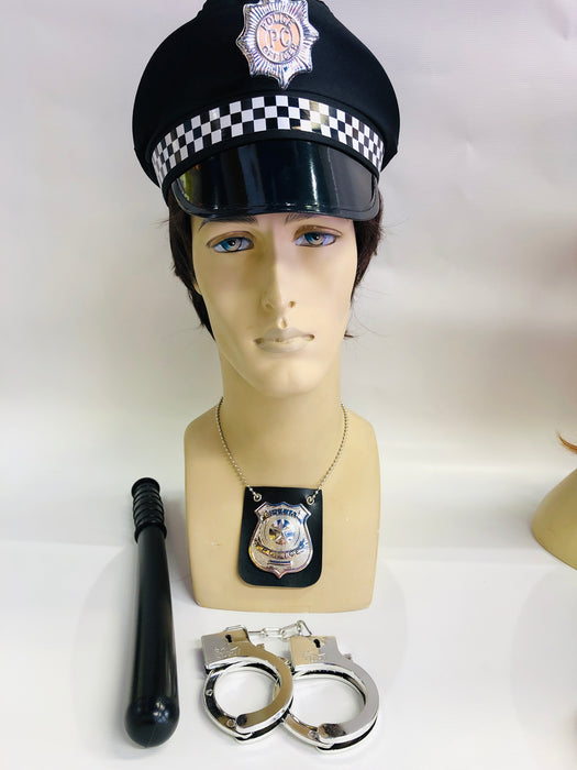Male Police Instant Fancy Dress Set - The Ultimate Balloon & Party Shop