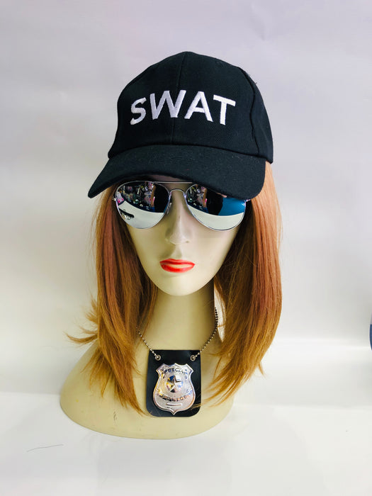 Swat Instant Fancy Dress Set - Female - The Ultimate Balloon & Party Shop