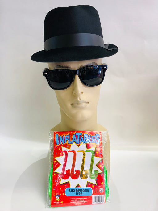 Blues Brother Instant Fancy Dress Set - The Ultimate Party Shop