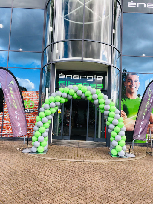 Corporate Coloured Spiral Balloon Arch - The Ultimate Balloon & Party Shop