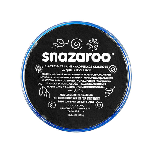 Snazaroo Face Paint - Black - The Ultimate Party Shop