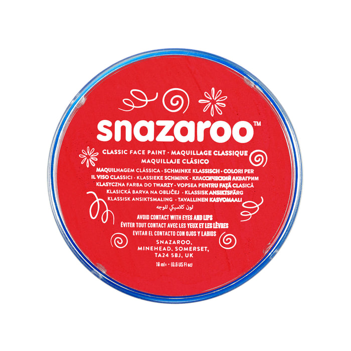 Snazaroo Face Paint - Red - The Ultimate Balloon & Party Shop