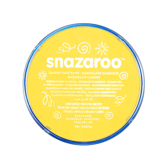 Snazaroo Face Paint - Yellow - The Ultimate Balloon & Party Shop