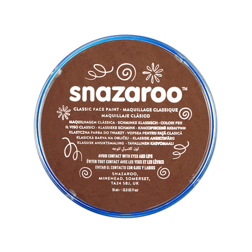 Snazaroo Face Paint - Dark Brown - The Ultimate Party Shop