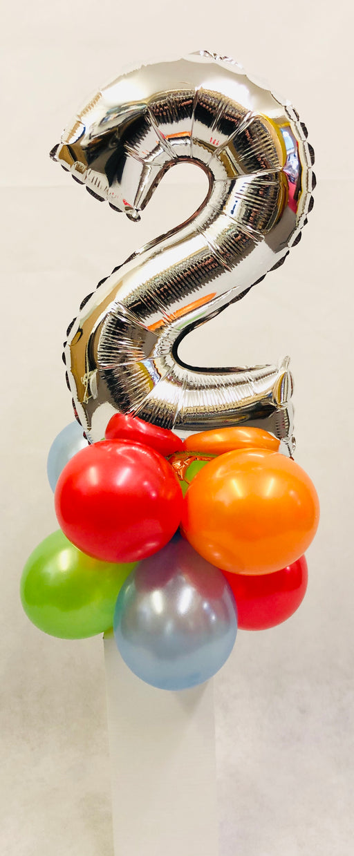 "Mini Number 16"" Table Balloon Display - The Ultimate Balloon & Party Shop"