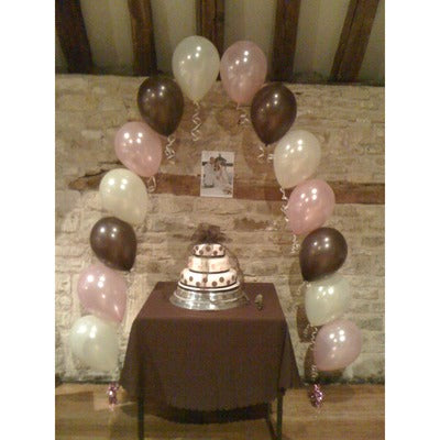 Cake Table Pearl Archway Balloon Display - The Ultimate Balloon & Party Shop