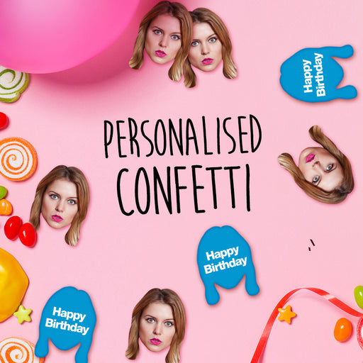 Face Fetti - 18th Birthday personalised table confetti - The Ultimate Party Shop