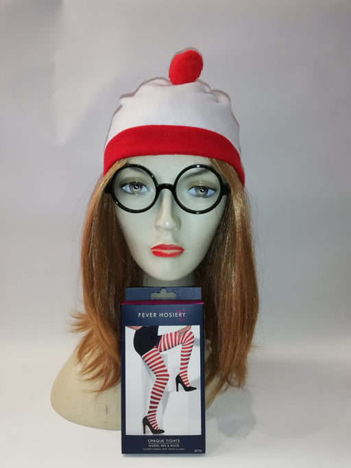 Wheres Wally Instant Fancy Dress Set - FEMALE - The Ultimate Balloon & Party Shop