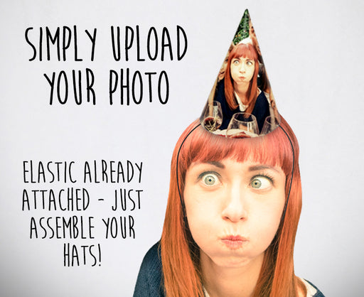 Personalised Photo Party Hats £2.50/hat (8pk) - The Ultimate Party Shop