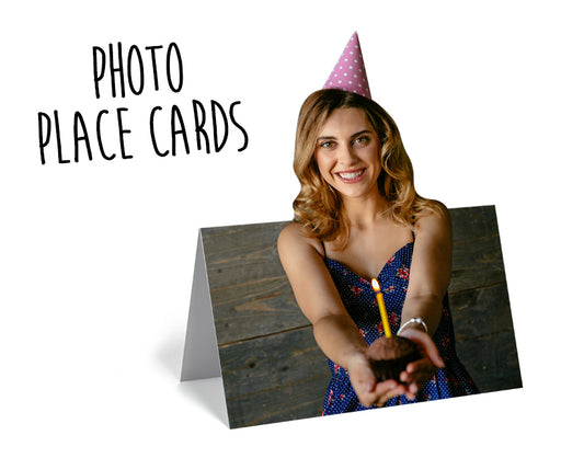 Personalised Photo/Name Place Cards £1.50/card (6pack) - The Ultimate Party Shop