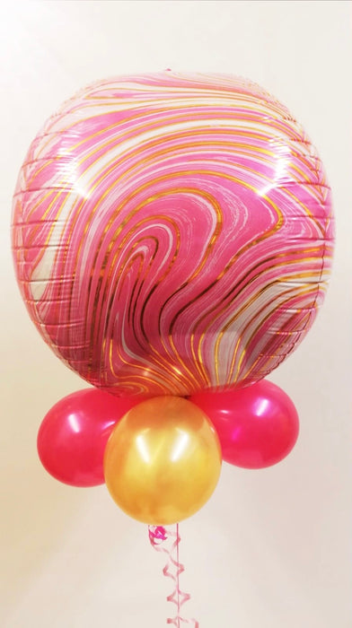 Qualatex Foil Orbz Balloon  - Pink/Gold - The Ultimate Party Shop