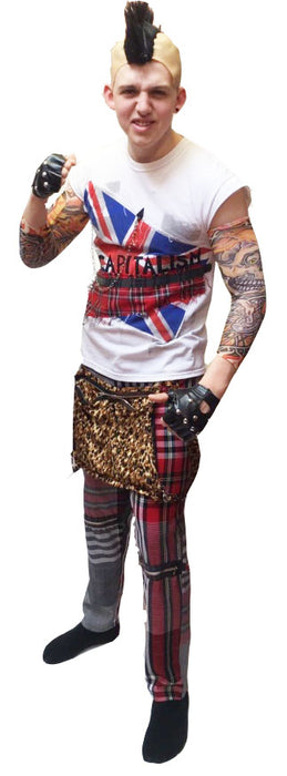 NEW 70/80's Punk Man Hire Costume - The Ultimate Party Shop