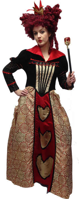 Red Queen Fairytale Hire Costume - The Ultimate Party Shop